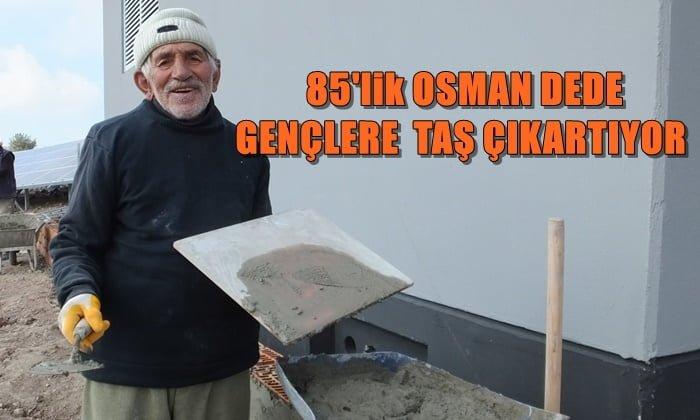Çaykara'lı 85 yaşındaki Osman dede çalışkanlığı ile gençlere örnek oldu