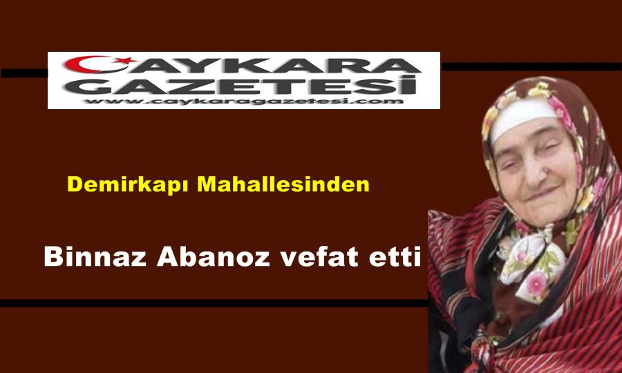 Demirkapı Mahallesinden Binnaz Abanoz vefat etti
