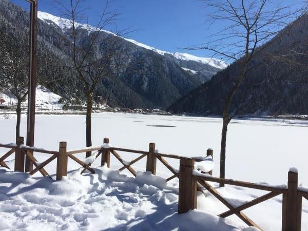 Uzungöl bu yıl ikinci kez buz tuttu 1