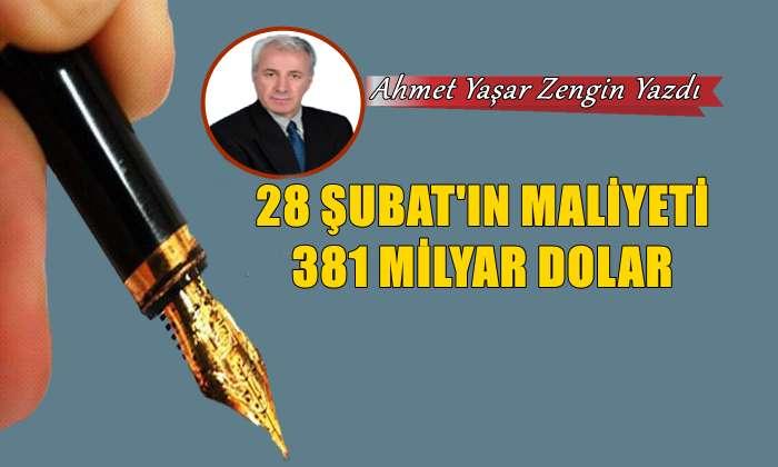 28 Şubat'ın Maliyeti 381 Milyar Dolar