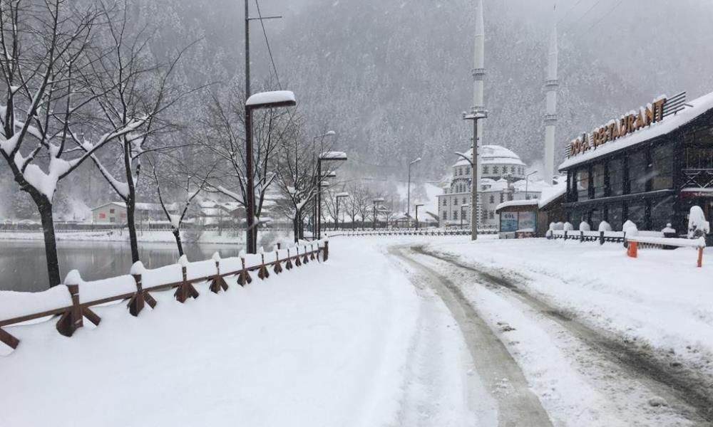 Uzungöl'e mart karı yağdı 9