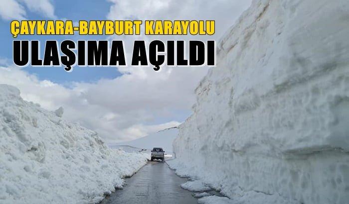 Çaykara-Bayburt karayolu ulaşıma açıldı