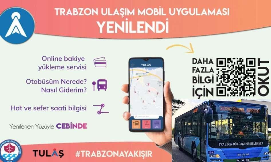 Trabzon Büyükşehir, Toplu Ulaşım Mobil Uygulamasını güncelledi!