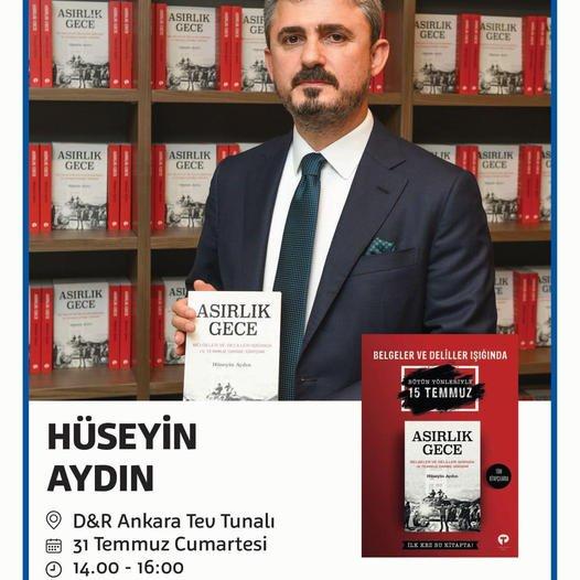 Doç.Dr. Avukat Hüseyin Aydın'in Asırlık Gece adlı kitabin imza günü 1