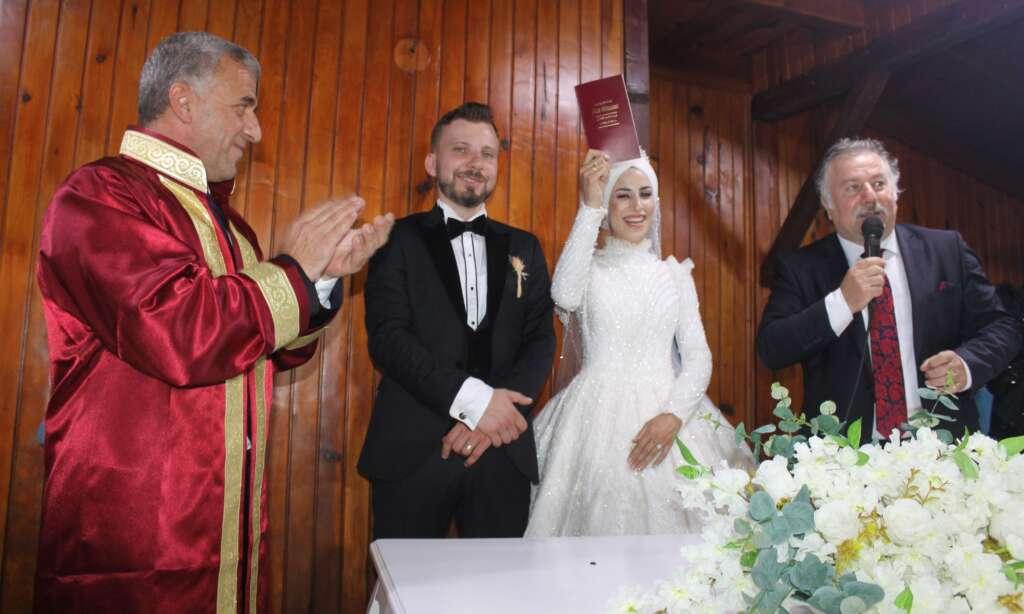 Erzurum'dan Çaykara'ya gelin geldi 6
