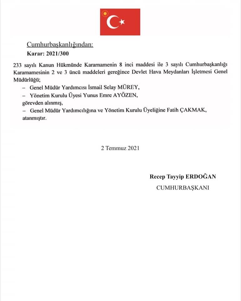 Fatih Çakmak DHMİ Genel Müdür Yardımcılığı ve Yönetim Kurulu Üyeliğine getirildi 1