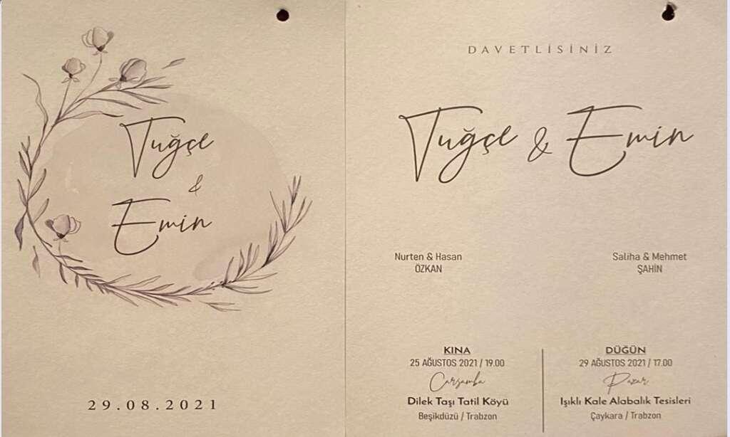 Özkan ve Şahin Aileleri düğün merasimine davet ediyorlar