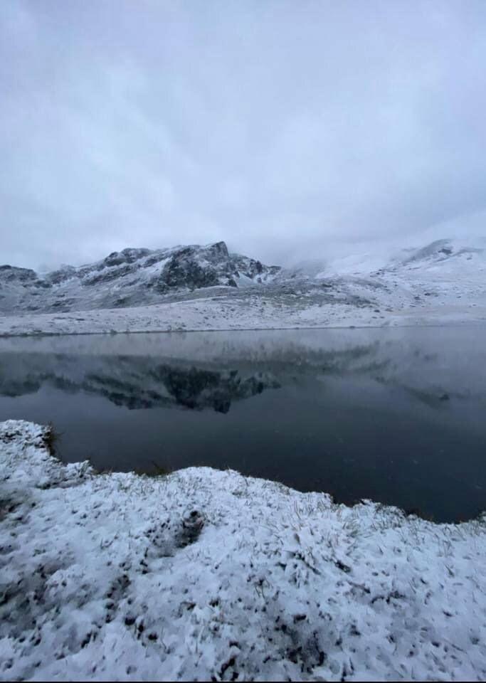 Çaykara dağlarına ilk kar düştü 1