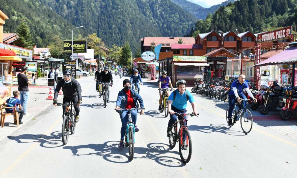 Haldızen Yaylası'nda bisiklet turu 2