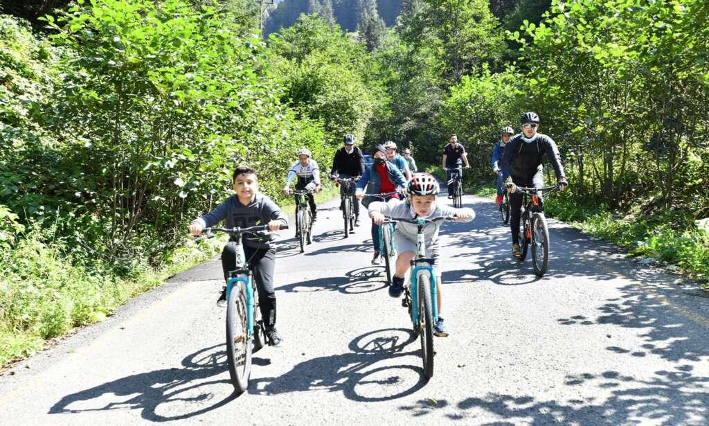 Haldızen Yaylası'nda bisiklet turu 4