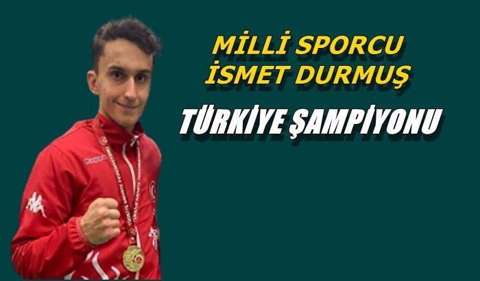 Kyokushin Stil Karate Şampiyonası'nda İsmet Durmuş Türkiye şampiyonu oldu