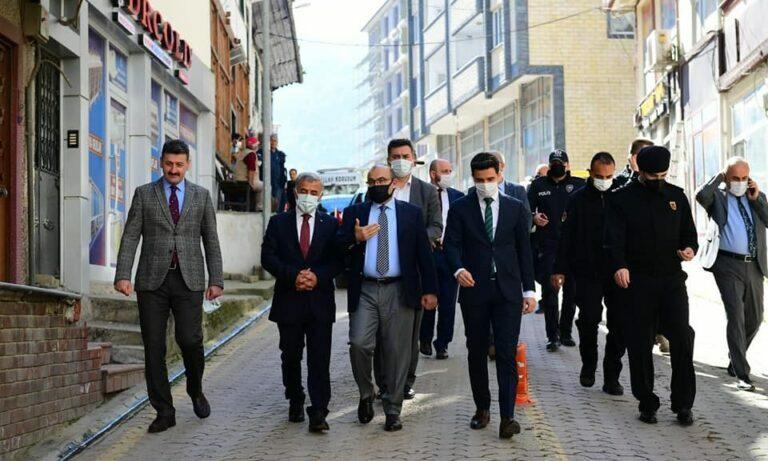 Vali Ustaoğlu Çaykara'da