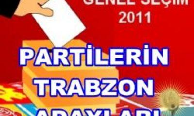 Partilerin Trabzon Adayları