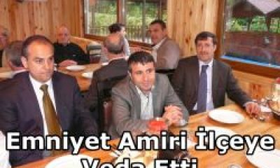 Emniyet Amiri Hami Bulut Çaykara'ya Veda Etti