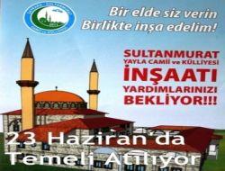Sultanmurat Camii Temeli 23 Haziran'da Atılıyor