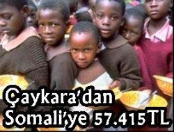 Çaykara'dan Somaliye Yardım