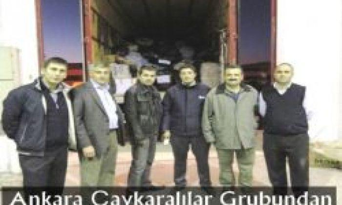 Ankara Çaykaralılar Grubundan Depremzedelere Yardım