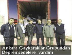 Ankara Çaykaralılar Grubundan Depremzedelere Yardım 1