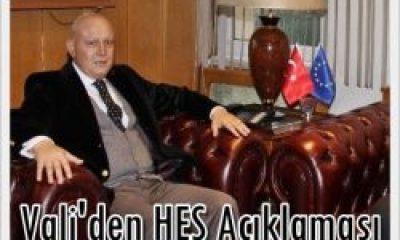 Vali Recep Kızılcık'tan HES Açıklaması