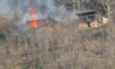 Ormanlık Alanda Yangın Bir Ev Kül Oldu