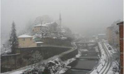 Çaykara'da Kar Yağıyor