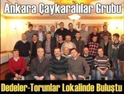 Ankara Çaykaralılar Grubu Dedeler-Torunlar Lokalinde Buluştu