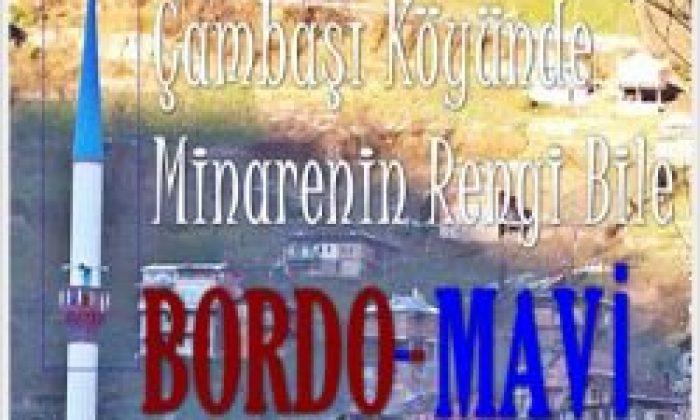 Çambaşında Bordo-Mavi Minare
