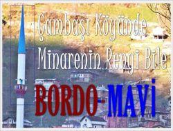 Çambaşında Bordo-Mavi Minare 1