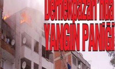 Dernekpazarı'nda Yangın Paniği
