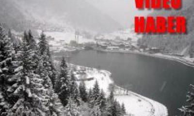Uzungöl'e Kar Geldi: Doyumsuz İlk Kar Görüntüleri