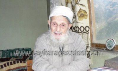 Çaykara'da Bilinen En Yaşlı Kişi Nazım Kurşun