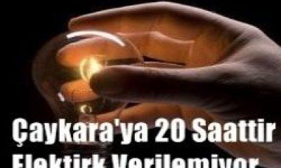 Çaykara'da 20 Saattir Elektrik Yok