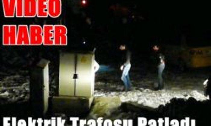Elektrik Trafosu Patladı