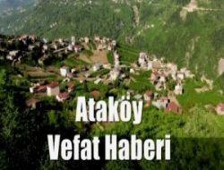 Ataköy'den Ayşe Fatma Korkmaz vefat etti
