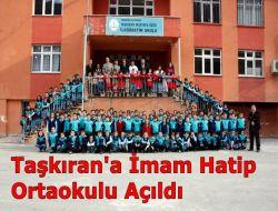 Taşkıran'a İmam Hatip Okulu Açıldı