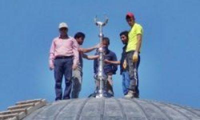 Sultanmurat Külliyesinin Kubbe Alemi Törenle Takıldı