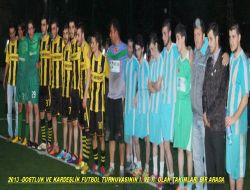 Dostluk ve Kardeşlik Futbol Turnuvası Sona Erdi