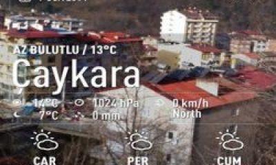 Çaykara'da Bahar Havaları  Devam Ediyor
