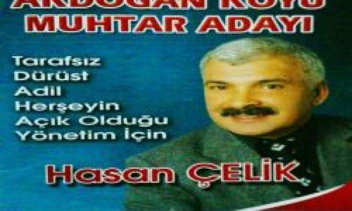 Akdoğan Köyü Muhtar Adayı Hasan Çelik