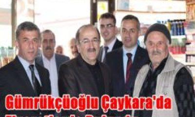 Orhan Fevzi Gümrükçüoğlu Çaykara'da Ziyaretlerde Bulundu