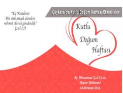 Çaykara'da Kutlu Doğum Haftası Etkinlikleri