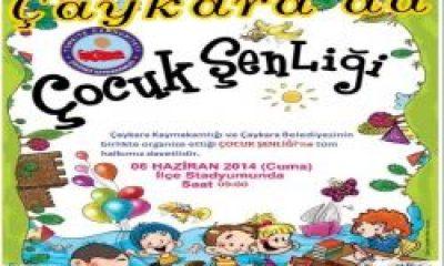 Çaykara'da Çocuk Şenlikleri
