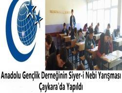 Anadolu Gençlik Derneğinin Siyer-i Nebi Yarışması Çaykara'da yapıldı
