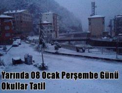 Çaykara'da 8 Ocak Perşembe Okullar Tatil