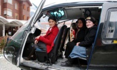 Uzungöllü Kadınların Helikopter Sefası