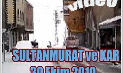 Sultanmurat'tan Kar Yağışı Görüntüleri