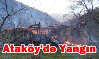 Ataköy'de Bir Ev Yanarak Kül Oldu