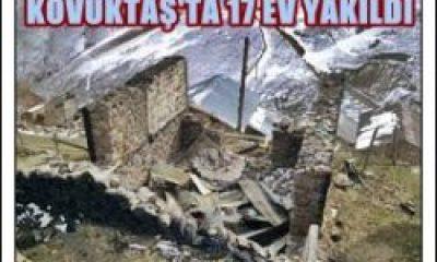 Kovuktaş Yaylasında 17 Ev Yakıldı