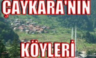 Çaykara'nın Köyleri