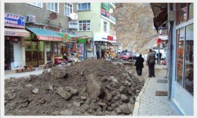 Çaykara'da Kanalizasyon Çalışmaları Devam Ediyor
